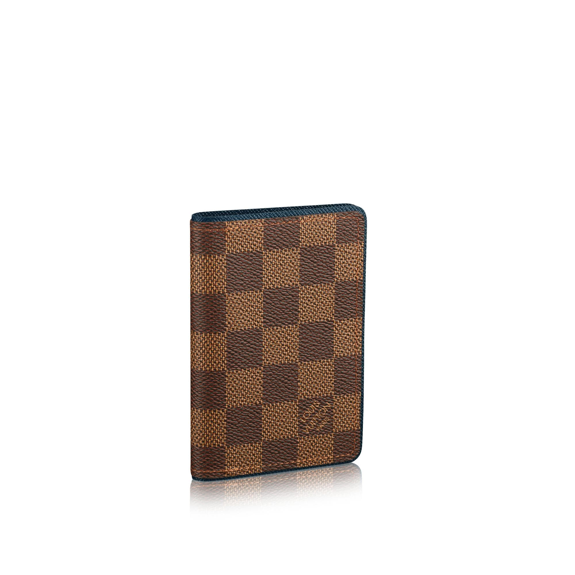 LOUIS VUITTON® Pocket Organiser  Damier Ebene Canvas - Card Holders Small Leather Goods